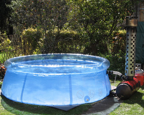 Kiwitub new zealands genuinely portable hot tub for Paddling pool heater